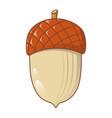 acorn nut icon cartoon style vector image vector image