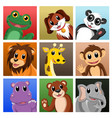 animals waving hello vector image