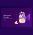 banner retirement savings vector image