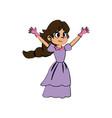 beautiful princess fairy tale fantasy dress vector image vector image