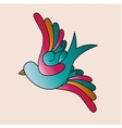 birds tattoo isolated icon design vector image vector image