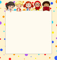 Blank banner with children vector image vector image