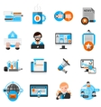Blogging Icons Set vector image vector image