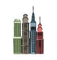 buildings skyscrapers high business skyline vector image