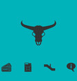 bull skull icon flat vector image
