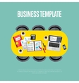 Business template Top view of conference room vector image