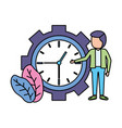businessman clock time vector image vector image