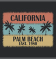 california typography for design clothes t-shirts vector image vector image
