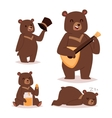 Cartoon bear set vector image vector image
