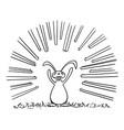cartoon rabbit or hare or jackrabbit vector image vector image