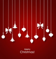 Christmas background with Christmas decorations vector image vector image