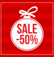 christmas ball sale retail design element vector image vector image
