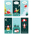 christmas cute banners vector image
