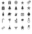 Christmas icons with reflect on white background vector image vector image