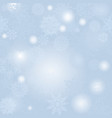 christmas snowfall background winter holiday snow vector image vector image