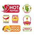 cinco de mayo mexican holiday food and drink icon vector image vector image