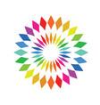 color wheel palette - round spectrum swatch vector image vector image