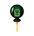 colored sweets lollipop hard candy zombie vector image vector image