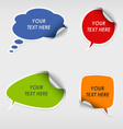 Colorful stickers dialog bubble template vector image vector image
