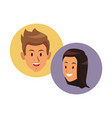 couple smiling faces vector image vector image