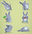Crazy rabbits vector image
