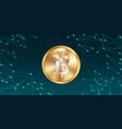 creative of 3d golden bitcoin vector image vector image