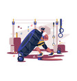 cross sport workout flat poster vector image