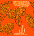cute elephants seamless pattern background vector image vector image