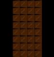 dark chocolate bar vector image