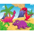dinosaur cartoon vector image vector image