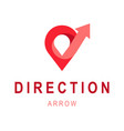 direction arrow logo template abstract business vector image vector image