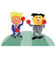 donald trump vs kim jong-un vector image