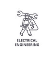 electrical engineering line icon sign vector image vector image