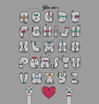 encrypted romantic message you are my other half vector image vector image