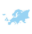 europe continent geography map design vector image