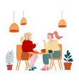 female characters friendship couple girl vector image