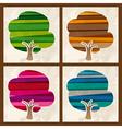 Four season multicolor tree set vector image vector image