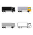 freight car single icon in cartoonoutlineblack vector image vector image