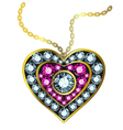 Gem Heart Pendant vector image vector image