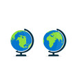 globe with stand world on globus for classroom vector image vector image