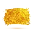 Golden glitter brush stroke isolated on white vector image vector image
