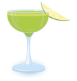 green cocktail vector image vector image