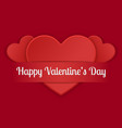 happy valentine s day card decorative with heart vector image vector image