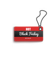 hot black friday sales discount red tag realistic vector image vector image