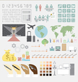 Infographics convention plan vector image vector image