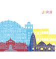 jaipur skyline pop vector image vector image