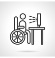 Job for disabilities black line icon vector image vector image