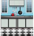 Kitchen room with sink at counter vector image