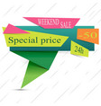 logo with mega sale message vector image