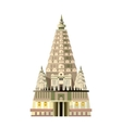 Mahabodhi temple icon isolated on white background vector image vector image